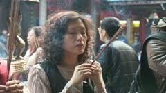 Longshan Temple Taipei Taiwan Stock Footage