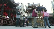 Stock Video Footage of Longshan Temple Taipei Taiwan