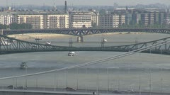Timelapse of The famous bridges in Budapest, Hungary Stock Footage