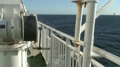 Metal fence on cruise ship 4 Stock Footage