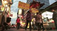 Stock Video Footage of Night market in Taipei, Taiwan
