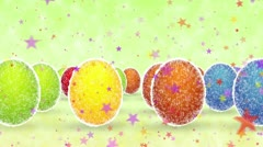 Multi-colored shining Easter eggs Stock Footage