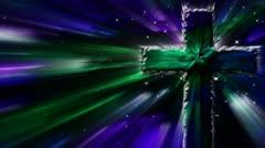 Cross - Seamless Loop - Purple-Green-Blue Stock Footage