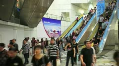 Singapore Metro Underpass Escalator, Singapore Stock Footage