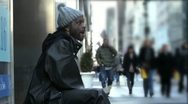 Homeless Drummer in Manhattan New York City - NYC Street Performer Audio Stock Footage