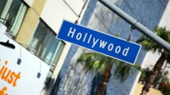 Hollywood Blvd Sign 07 HD - stock footage