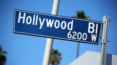 Hollywood Blvd Sign 09 HD Stock Footage