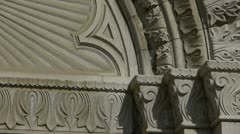Qingdao Catholic Church's baroque carved stone sculpture. Stock Footage