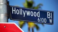 Hollywood Blvd Sign 11 HD Stock Footage