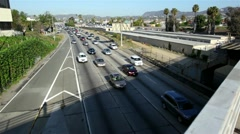 Los Angeles Commute On A Sunny Day - stock footage