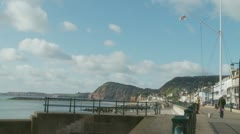 Sidmouth sea front, England (one) Stock Footage
