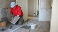 Stock Video Footage of Decorating with ceramic tiles