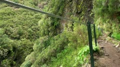 Hiking in Madeira mountains 20110426 133657 Stock Footage
