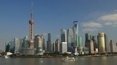 Stock Video Footage of  City of Shanghai, China, Asia