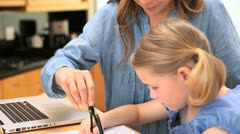 Little girl using a compass Stock Footage