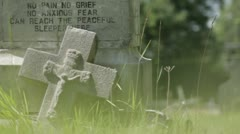 Grave stone poem Stock Footage
