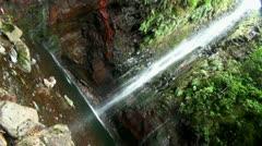 Waterfall diagonale 20110426 143543 Stock Footage