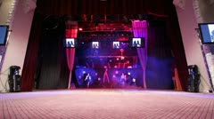 Performance on the stage Stock Footage