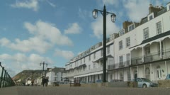 Sidmouth sea front (three) England Stock Footage