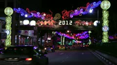 Chinese New Year illuminations 2012 Stock Footage