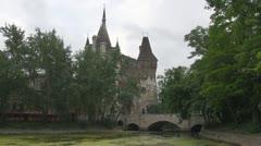 Vajdahunyad Castle, Budapest, Hungary Stock Footage