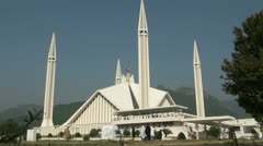 Shah Faisal Mosque in Islamabad - zoom in - stock footage