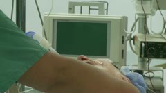 Spinal surgery patient (3 of 4) - stock footage