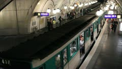 Young Adults exiting Paris Metro Stock Footage