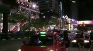 Stock Video Footage of Taxis and young ladies China Town