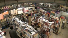 Book outlet in Islamabad, Pakistan - stock footage