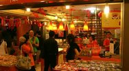 Stock Video Footage of Bright orange coloured shop
