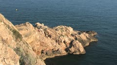 Cliffs of Costa Blanca Stock Footage