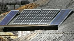 Stock Video Footage of Solar panel in Shack