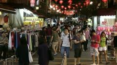 China Town street market, Singapore Stock Footage