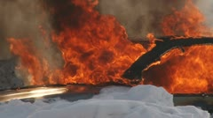 Car on fire - stock footage