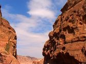 Colored rocks at Petra Stock Footage