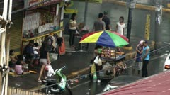 People on a busy street in Malate Manila in the  Philippines - stock footage
