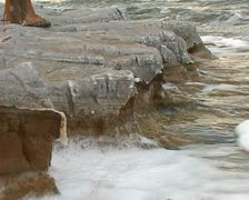 Dead Sea mud Stock Footage