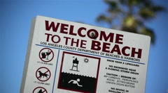Beach Sign 01 HD Stock Footage