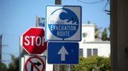Tsunami Evac Route 01 HD Stock Footage