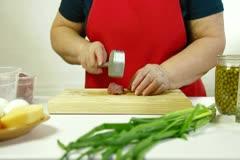 Preparing Pork Chop Stock Footage