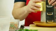 Cooking Food Ingredients For Salad Stock Footage