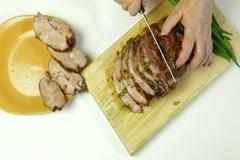 Grilled Tenderloin Pork Stock Footage