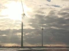 wind mill energy sky - stock footage