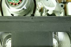 Cassette Videotape Recorder Stock Footage