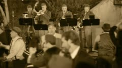 Swing Band Sepia Stock Footage