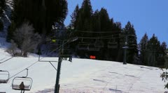 Stock Video Footage of Chairlift at Ski Resort