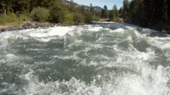 Rafting POV, whitewater, white water Stock Footage