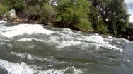 Stock Video Footage of rafting POV, whitewater, white water