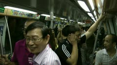 Singapore underground train Stock Footage